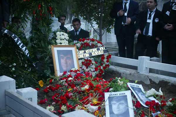 The tomb of Hrant Dink