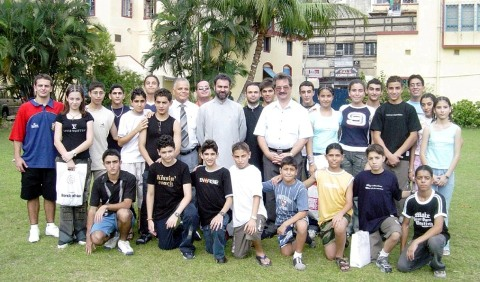 IRANIAN ARMENIAN STUDENTS IN KOLKATA PRIOR THEIR DETAPRTURE FOR VACATION TO IRAN