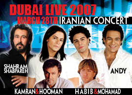 Andy Madadian and famous Iranian singers perform in Dubai