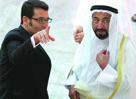 Jack Persekian with the Ruler of Sharjah Sheikh Dr. Sultan Al Qasimi