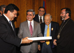 Kevork Hovnanian, founder of the 'Fund for Armenian Relief' honored