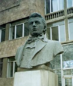 Statue of Khatchatour Abovian in Yerevan