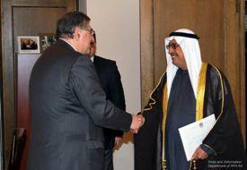 Deputy Ministers Arman Kiroakosyan and Tarik Al Heidan
