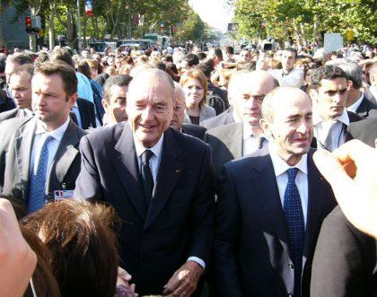 Jacques Chirac visits Armenia