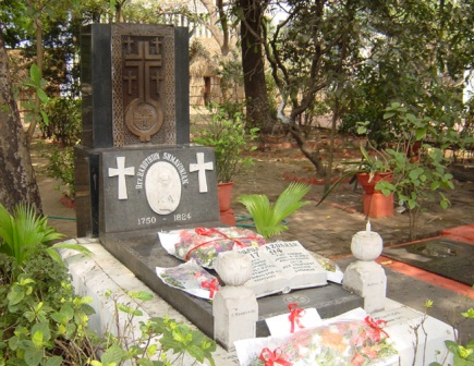 The grave of Father Haroutiun Shmavonian