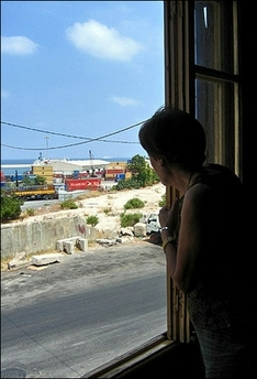The turbulent march of history past Beirut woman's window