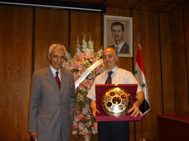 Mihran Minassian with Ambassador of Armenia Arshag Poladian