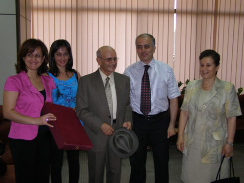 Mihran Minassian and Aboud Kasouha and family members