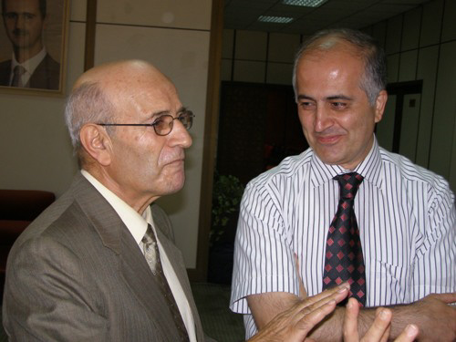 Mihran Minassian and second winner Aboud Kasouha (left)