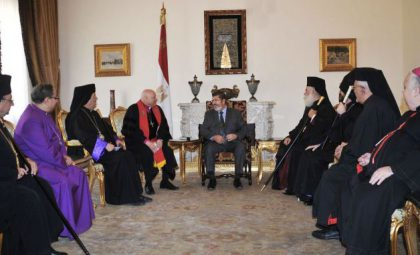 President-elect Morsi to Egyptian Christians: National unity is a priority