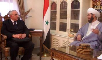 GRAND MUFTI OF SYRIA MEETS WITH ARMENIAN CONSUL IN ALEPPO