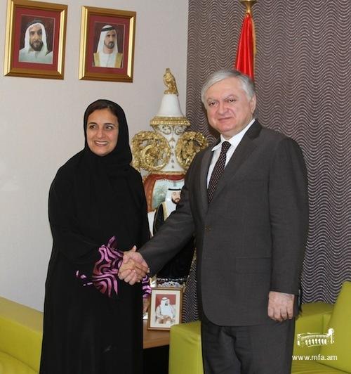 With Sheikha Lubna Al-Qasimi