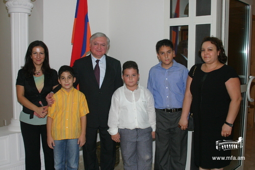 With members of the Armenian Community