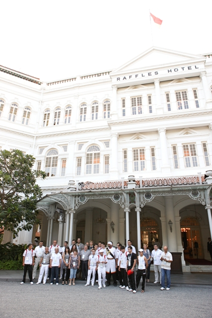 Armenian Youth Olympics Team at the Raffles Hotel
