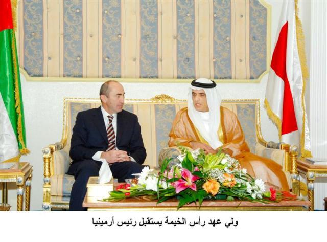 Kocharian meets Sheikh Saud bin Saqr Al Qasimi, Crown Prince of Ras Al Khaimah.