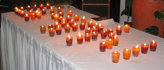 PART OF THE 91 CANDLES THAT WERE LIT IN DOHA QATAR