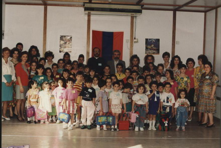 POET RAZMIG TAVOYAN VISITS THE SCHOOL 1992
