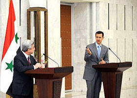 President Sargsyan in Syria