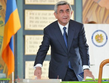 President Serzh Sargsyan's Republican Party wins the elections in Armenia
