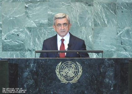 President Serzh Sargsyan's address to the 66th United Nations General Assembly