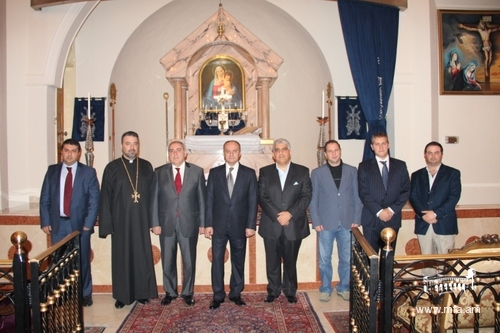 Inside the Saint Gregory the Illuminator Armenian Apostolic Church in Sharjah