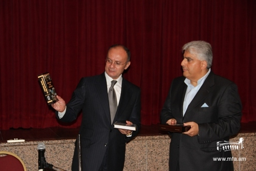 Minister Ohanyan and Chairman Ara Keuseyan (right)