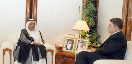 Ambassador Melikian with Sheikh Hamdan bin Reshed of Dubai