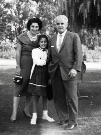 Shirley with parents