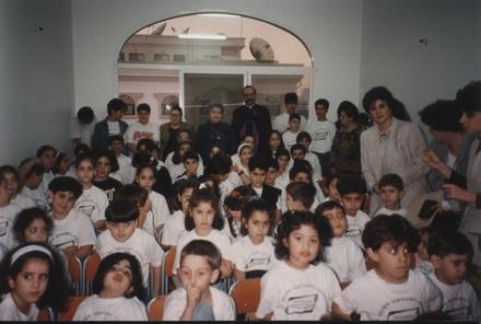 POET SILVA GABOUDIGIAN VISITS THE SCHOOL IN 1996