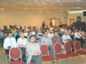 Silva Tcharshafian delivers a speech in Sharjah