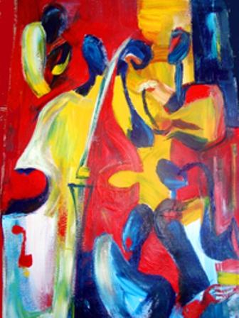Sona Yeghiazaryan: At a jazz club.