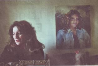 Sonia Babikian with daughter's portrait