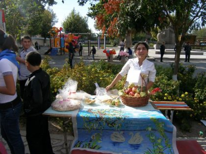 Student trade fair in Etchmiadzin