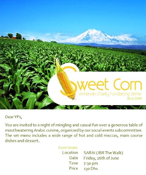 Sweet corn fundraising event