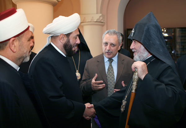 Syrian Grand Mufti and the Armenian Catholicos
