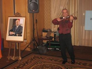 Violinist Hakob Shirinian