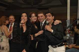 Ambassador and his spouse with singers Aramo and Emma