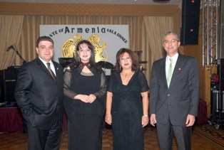 Ambassador and his spouse with Mr. Mouin Kandil, Millennium Hotel's General Manager
