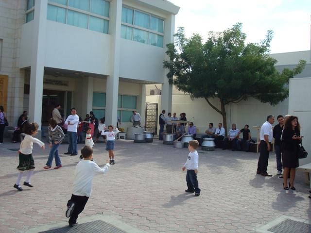 Armenian Church in Sharjah: the churchyard