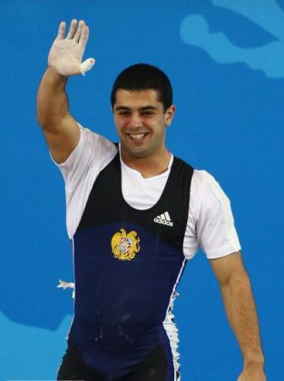 The first weight-lifter who became a champion under independent Armenian flag