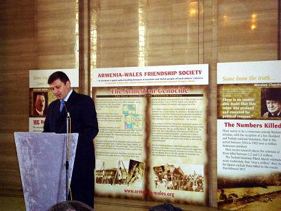 Unveiling of Khatchkar in Wales