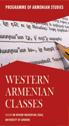 Courses in Western Armenian language commenced in London