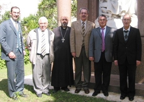 With members of the Armenian Orthodox Church